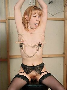 Cute amateur is gagged and tied up for sexual mischief