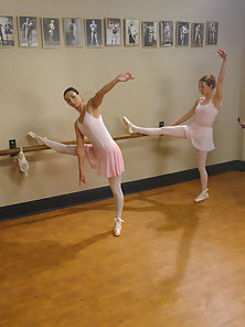 Two Ballerina girls dominated and fucked by lesbian instructor.