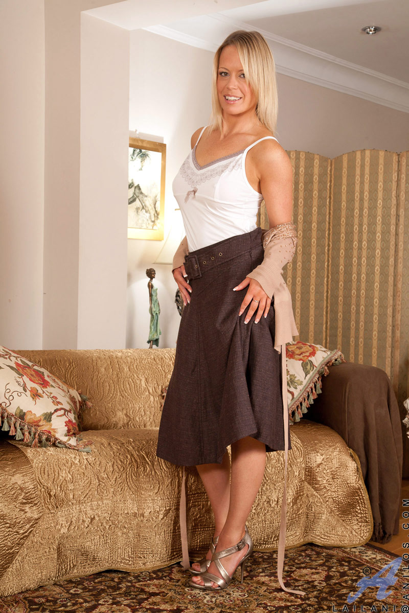 sensual blonde milf lailani spreads her silky thighs and caresses