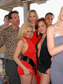It's another game of pass the pussy as these sexy party going debutantes line up their pretty privat