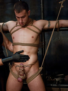 Spencer Reed and Van Darkholme dominate Dominic Pacifico in a Live Shoot.