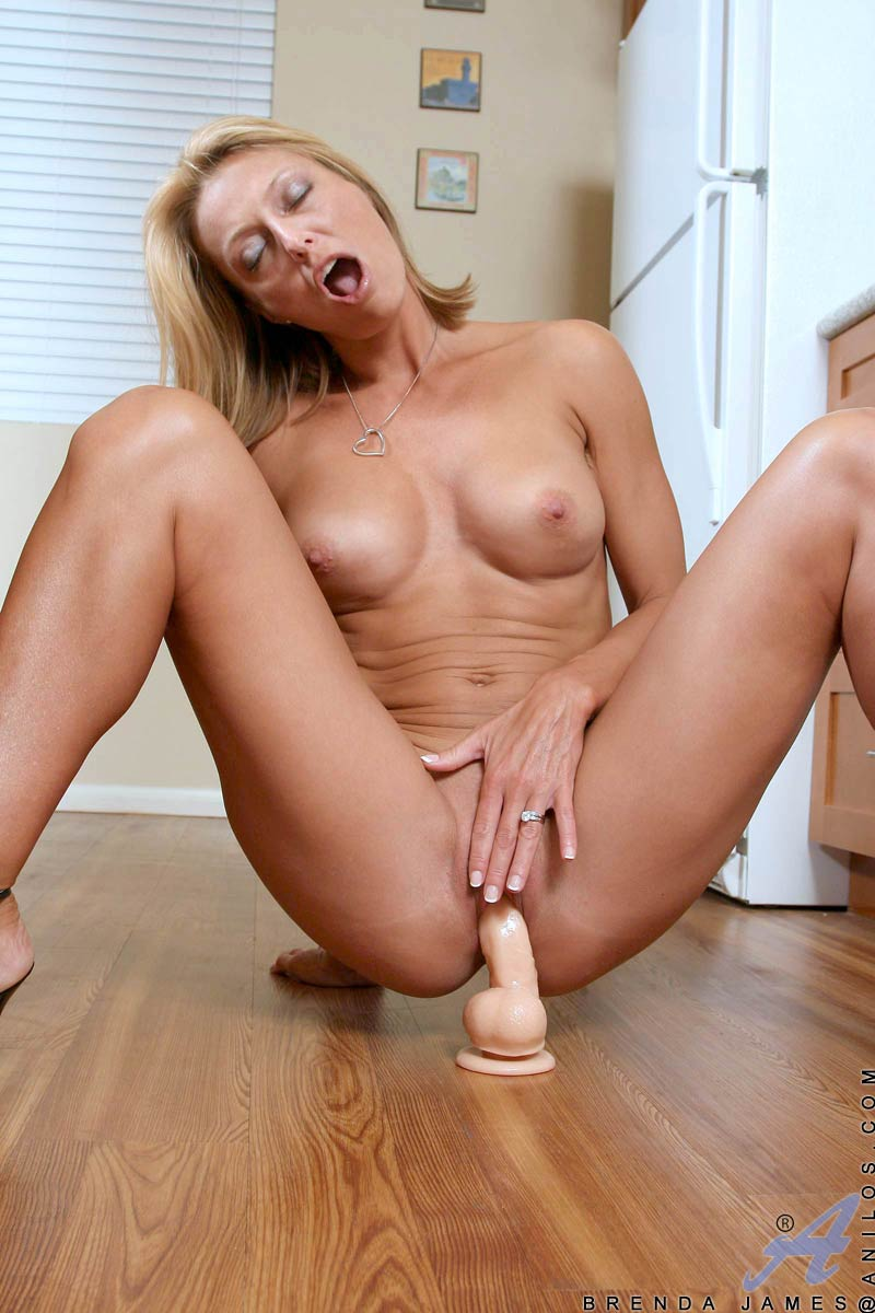 Mature dildo on floor