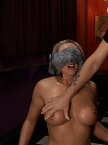 Skylar Price humiliated, bound, double penetrated, strap-on fucked, smacked, spit on, made to squirt