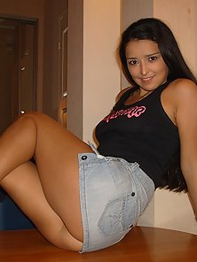 Raven haired teen babe gets her fill of stiff dick.