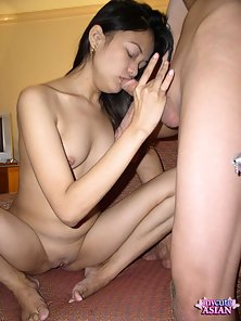 Asian gets a massive load on her pretty face