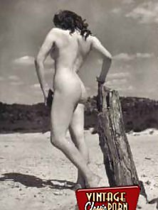 Real vintage naked chicks playing outdoors with themselves