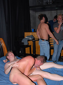 At this wild Gay College Sex Party our very own Casey cunning cums out from behind the camera to mak