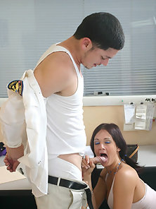 Tory Lane sucks a prison guard