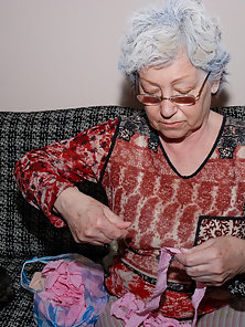 Granny pictured with adult toy