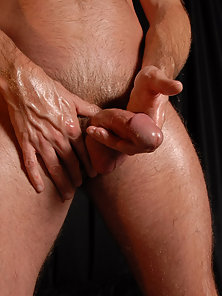 Who wouldn't want to run their fingers through the wild forest on this muscle mans rock hard chest.