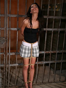 Hot lesbian threesome torture and lezdom action