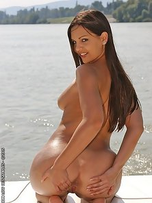 Busty Eve Angel is dildoing