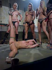 All girl gang bang and bdsm.