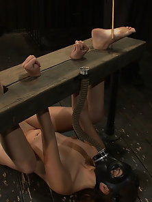 Innocent girl, bound, masked, and vibrated to helpless orgasm after orgasm.