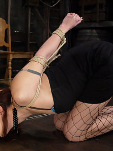 Satine Phoneix takes the cattle prod and a severe pussy caning