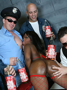 Stacked and Slutty Roxy gets a 40 poured on her ass