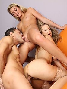 Mom and Daughter Hot Fucking Threesome