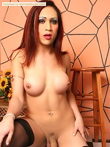 Sophisticated transsexual fuck slowly stripping and teasing