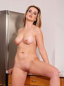 Horny Anilos milf exposes her silky flesh and flaunts her huge nipples