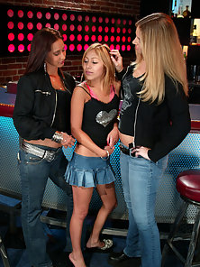 Kat gets her ass beat by two tough lesbians at a local bar.