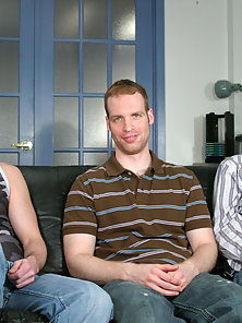 This week stunning, handsome and horny Adam joins Anthony and Simon for a little early summer fun