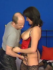 Balding guy has a fantastic time with this thick busty mature lady.