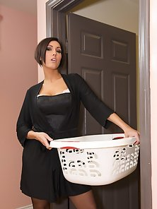 Horny stepmom Dylan Ryder taking a pounding from her stepson