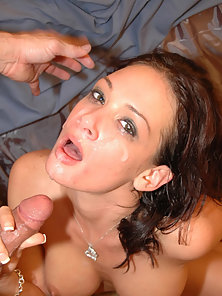 Busty Tory gets her face covered with cum