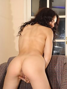 Latina Amateur Beauty Strips in the Sofa