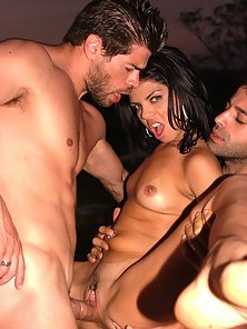 Interracial Latina DP Threesome