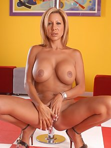 Three stunning blonde cougars showing off all their curves