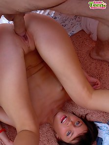What this naughty teen chicklette wants to have with her male friend is a wild teen fuck.