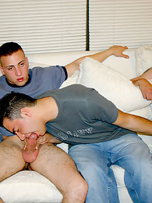 Phil was having some problems with his boyfriend, so we invited him over for a little therapy sessio