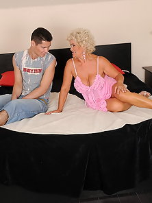 Horny granny gives private lesson for boy