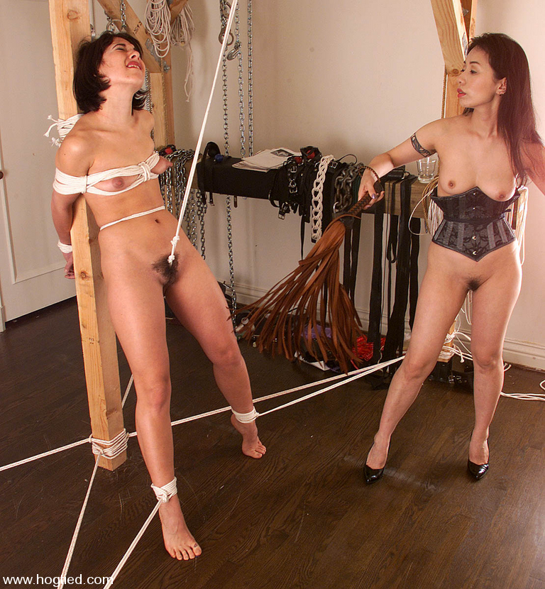 Lesbian Rope Bondage With Asian Domme - Movie Shark-5326