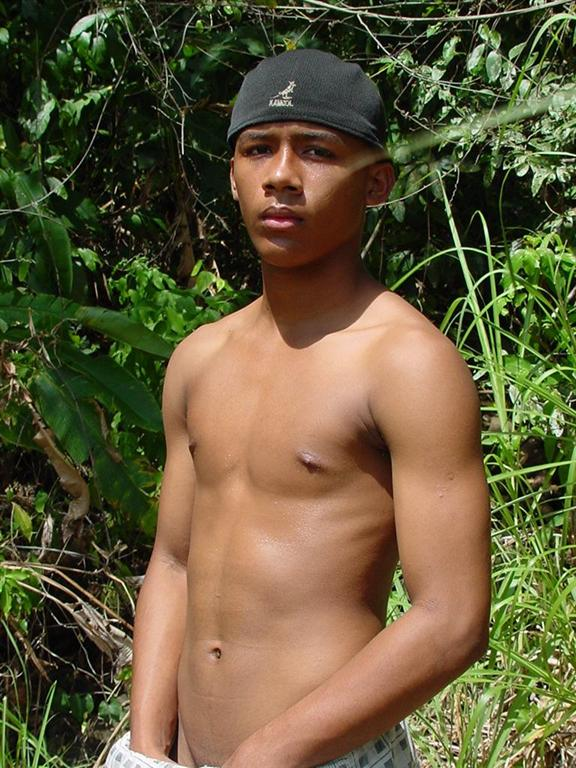Latino Boy Wondering Naked In The Wild Jungle - Movie Shark-7087