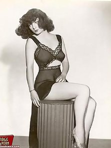 Several cute ladies showing their sensual vintage lingerie