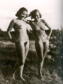 Several outdoor vintage ladies going fully naked outdoor