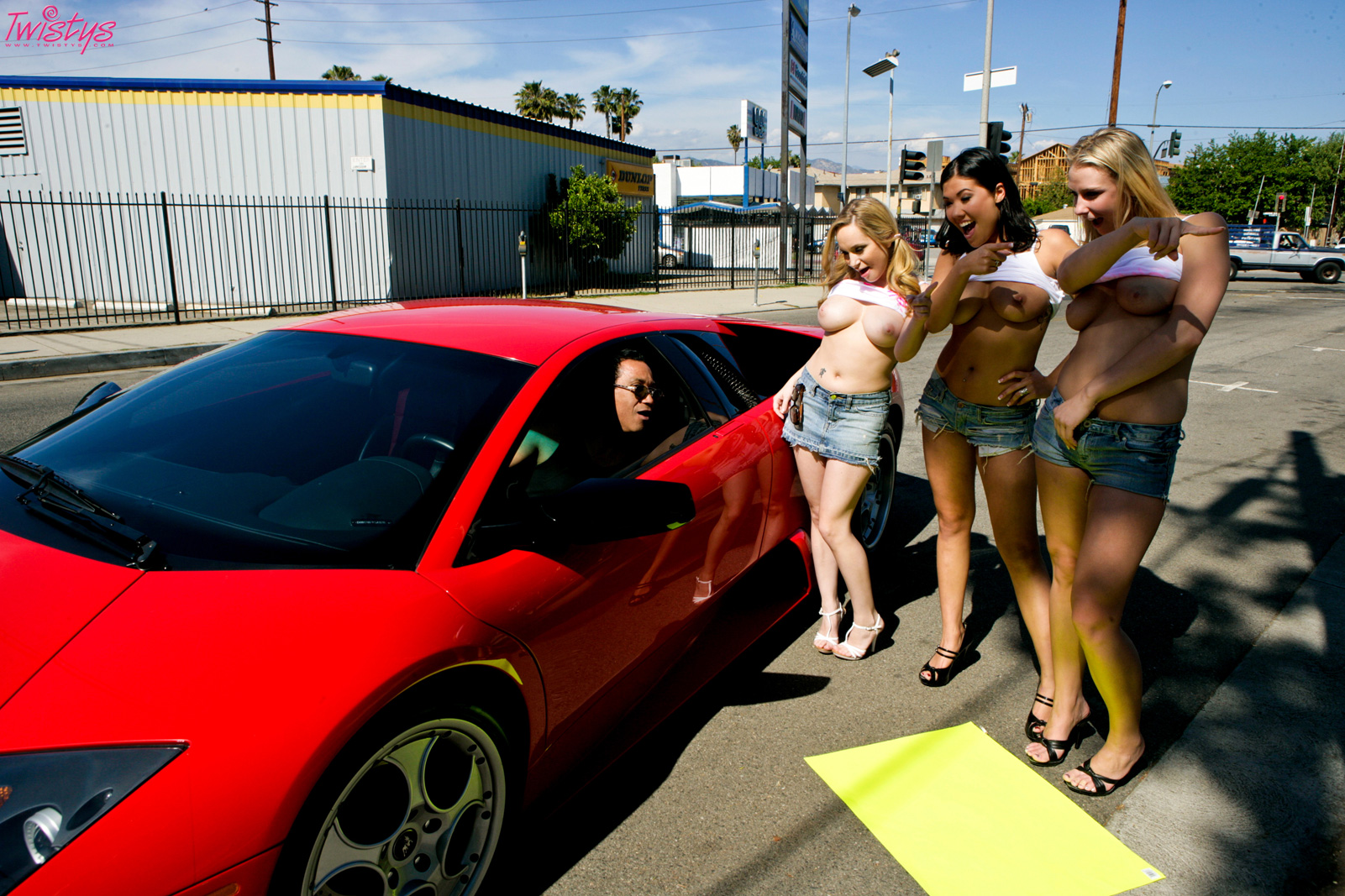 twistys car wash with 3 horny girls. - movie shark