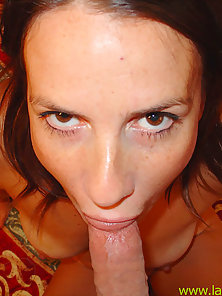 Stuffed spanish slut gets their nut dumped on her face