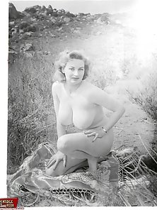 Exciting vintage ladies with enormous round natural breasts