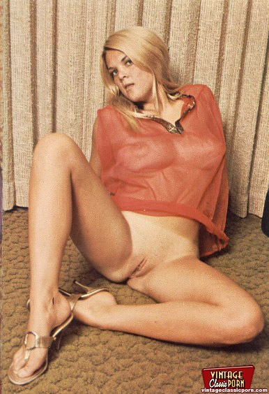Real Hairy Blonde From The Sixties Naked Girlis Pictures -1435