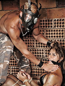 Submissive shemale gets used by her dominant master