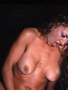 Scared whore getting drowned in squirt
