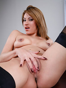 Sexy office babe gets fucked on the desk