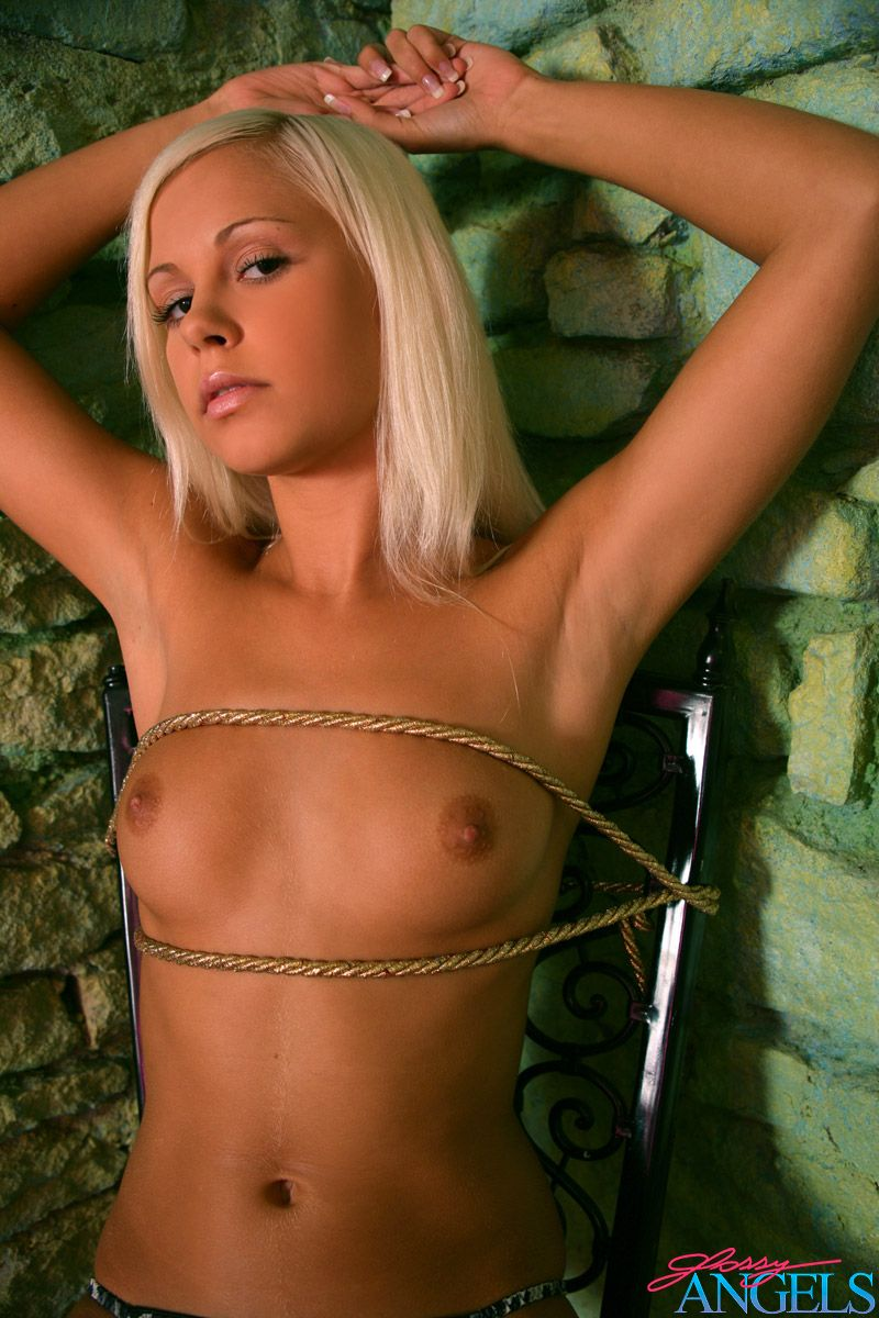 tied naked Babe  Stunning blonde beauty tied up naked in a creepy dungeon ...