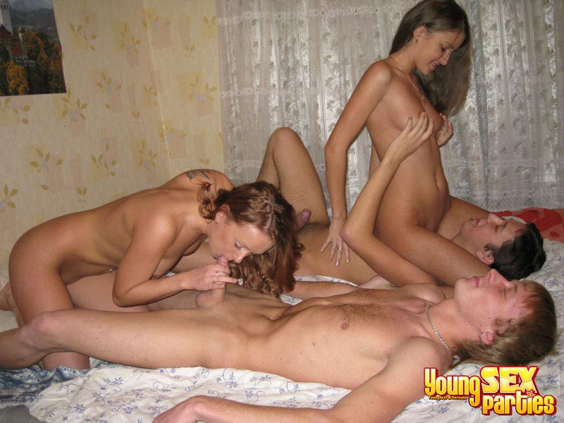 Hardcore Teen Orgy Gets Steamy Once They Get Into Action -5915