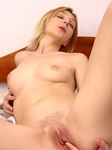 Blonde Slovak Strips then Fondle Her Muff by Finger