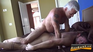 Tattooed Dude Rammed Naked Twink until Cumload