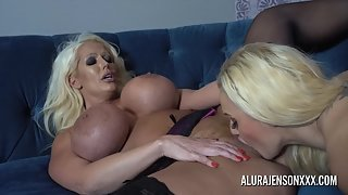 Big Boobs Whores Dolly Fox and Alura Jenson Licked Their Shaved Twats